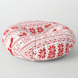 Love, Joy, Peace, Corgis | Humorous Dogs Christmas Pattern Floor Pillow