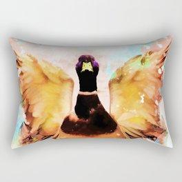 duck art #duck #animals Rectangular Pillow