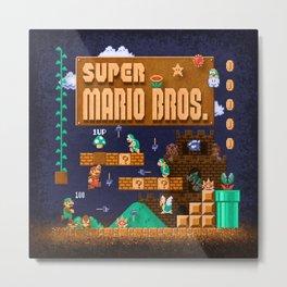 Mario Super Bros Metal Print