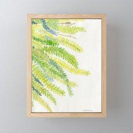 Fern Leaves Watercolor Framed Mini Art Print