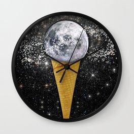 MOON ICE CREAM Wall Clock