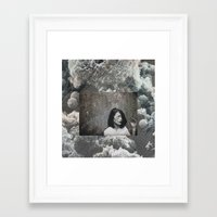 cloud Framed Art Prints featuring cloud by Ina Nederdal
