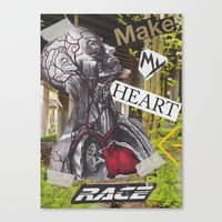 racing Canvas Prints featuring Racing by Bradley Stanbary