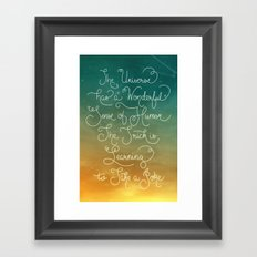 Sense of Humor Framed Art Print