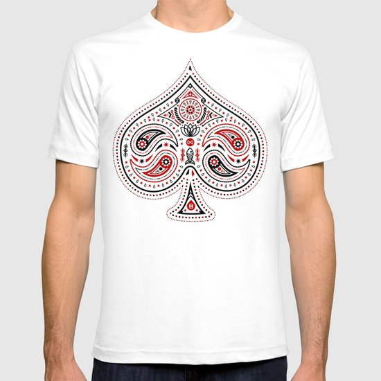 83 Drops - Spades (Red & Black) T-shirt