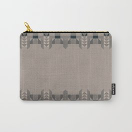 MESQUITE soft fawn grey background with charcoal art deco edges Carry-All Pouch