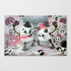 Pillow Fight!!! Canvas Print