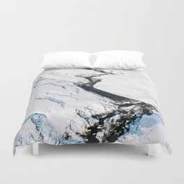 River in winter in Iceland - Landscape Photography Duvet Cover