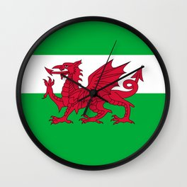National flag of Wales - Authentic version Wall Clock