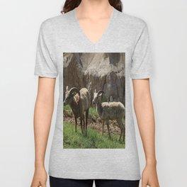 Wild Bighorn Sheeps Unisex V-Neck