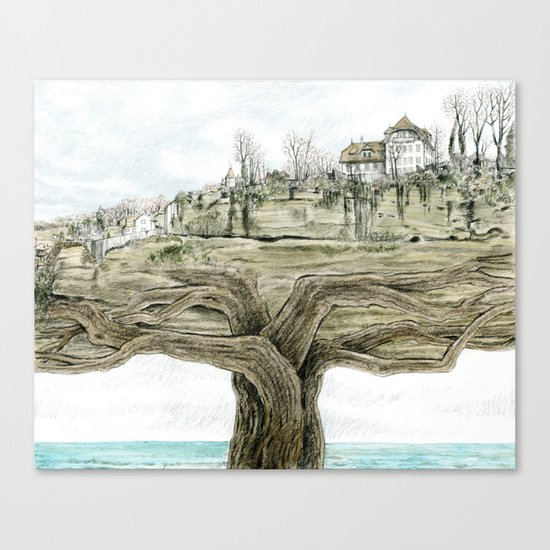 Tree city Canvas Print