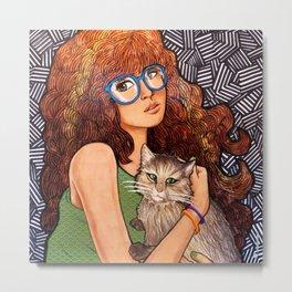Her Best Buddy Metal Print