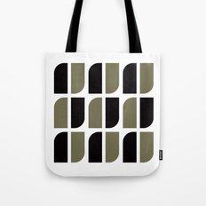 Black & gray curved corners pattern Tote Bag