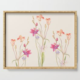 Floral watercolour Serving Tray