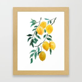 yellow lemon 2018 Framed Art Print