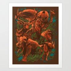 Watch Out for BearZilla Art Print