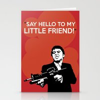 scarface Stationery Cards featuring Scarface Say Hello to My Little Friend by Florian Rodarte
