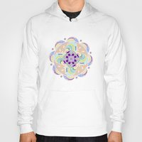 buddhism Hoodies featuring Daisy Lotus Meditation by DebS Digs Photo Art