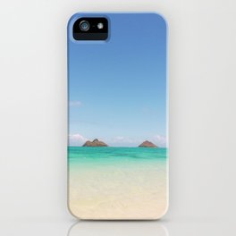 Secret Beach Views to Lanikai iPhone Case