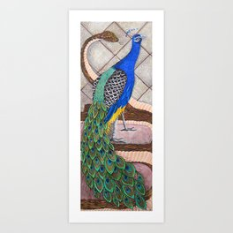 """""""Peacock and Serpent"""" Art Print"""
