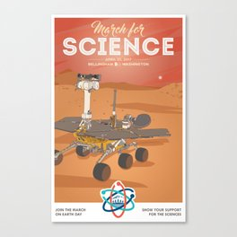 March For Science Series : Mars Rover Canvas Print