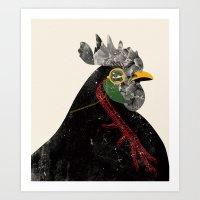 rooster Art Prints featuring Rooster by Urška Hočevar