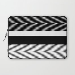 Black and white abstract striped pattern Laptop Sleeve