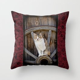 Rustic Ruby Throw Pillow