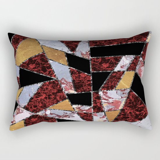 Abstract #459 Stone and Metal Shards Rectangular Pillow