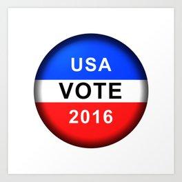 Vote Button 2016 Art Print