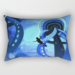 Europa Space Travel Retro Art Rectangular Pillow