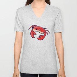 red crab Unisex V-Neck