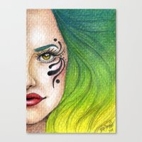 fierce Canvas Prints featuring Fierce  by StaceyPatinoArt