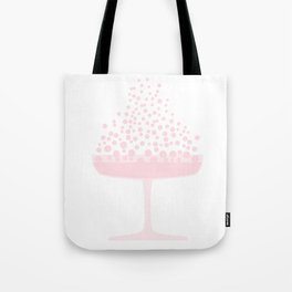 Pink Champagne Bubbles Tote Bag