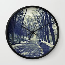A walk through the park I Wall Clock
