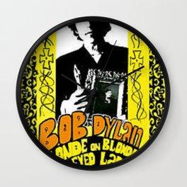 Vintage 1967 Bob Dylan Blonde on Blonde Concert Gig Poster Wall Clock