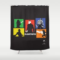 guardians Shower Curtains featuring Guardians by PeterParkerPA
