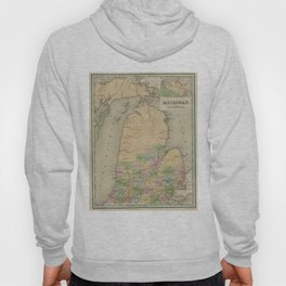 Vintage Map of Michigan (1838) Hoody