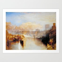 "J.M.W. Turner ""Ancient Rome; Agrippina Landing with the Ashes of Germanicus"" Art Print"