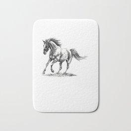 Running Horse Horseback Riding Horse Lover Bath Mat