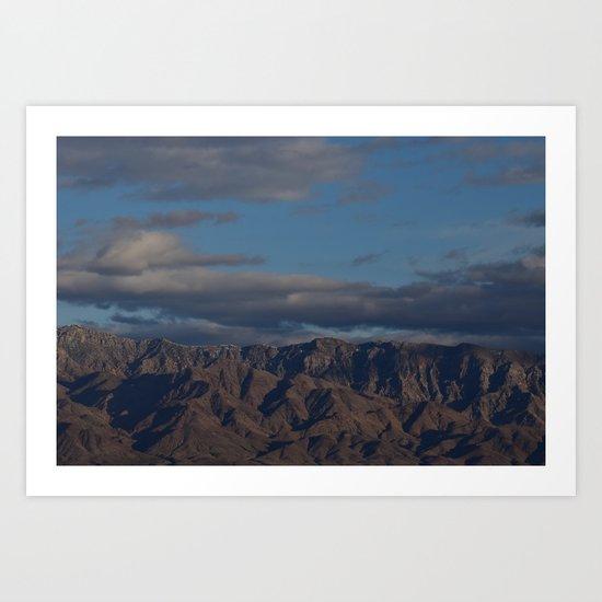 Virgin Mountains in February Art Print