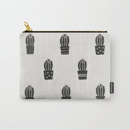 Stamped Potted Cacti Carry-All Pouch