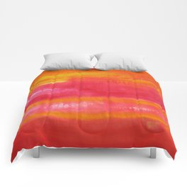 'Summer Day'  Orange Red Yellow Abstract Art Comforters