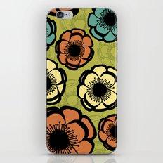 Bold Retro Flower iPhone & iPod Skin