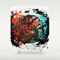 bruno mars Shower Curtains featuring Mars by DizzyNicky