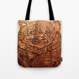 Bear pyrography Tote Bag