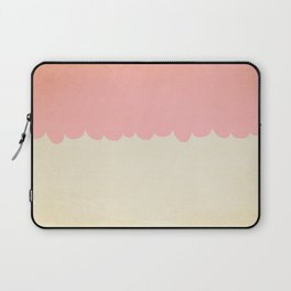 A Single Pink Scallop Laptop Sleeve