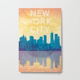 New York City Travel Poster Metal Print