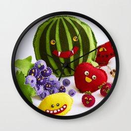 Funny fruits Wall Clock