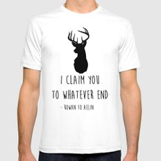 I CLAIM YOU TO WHATEVER END White SMALL Mens Fitted Tee